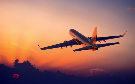 airplane-sunset